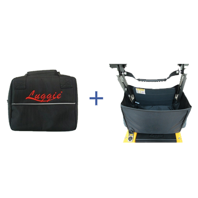 Luggie Folding Basket & Under Seat Battery Bag Combination