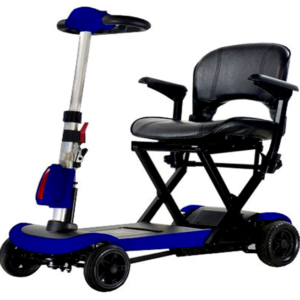 Genie Automatic Folding Scooter - Unfolded - Blue