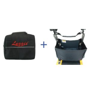 Luggie Folding Basket & Under Seat Battery Bag Combination